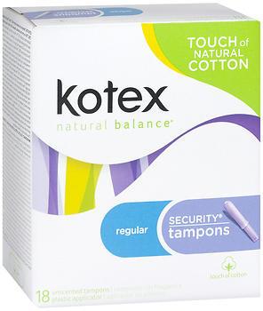 Kotex Security Tampons Regular Absorbency - 18 Each