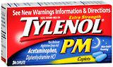 Tylenol Pain Reliever/Sleep Aid, Extra Strength, Caplets  - 24ea