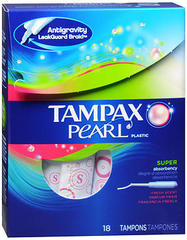 Tampax Tampons Pearl Plastic Super Fresh Scent - 18 Each