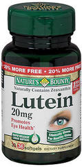 Nature's Bounty Lutein 20 mg Softgels  -  30 Caplets