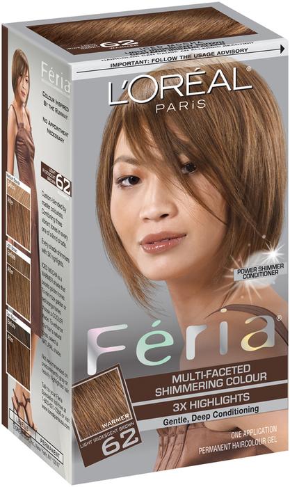 L'Oreal Feria - 62 Iced Mocha (Light Iridescent Brown) - 1 EA