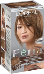 L'Oreal Feria - 62 Iced Mocha (Light Iridescent Brown) - 1 EA