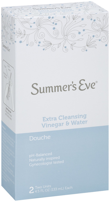 Summer's Eve Douche Twin Extra Cleansing Vinegar and Water 2X4.5 Pack - 2 Each