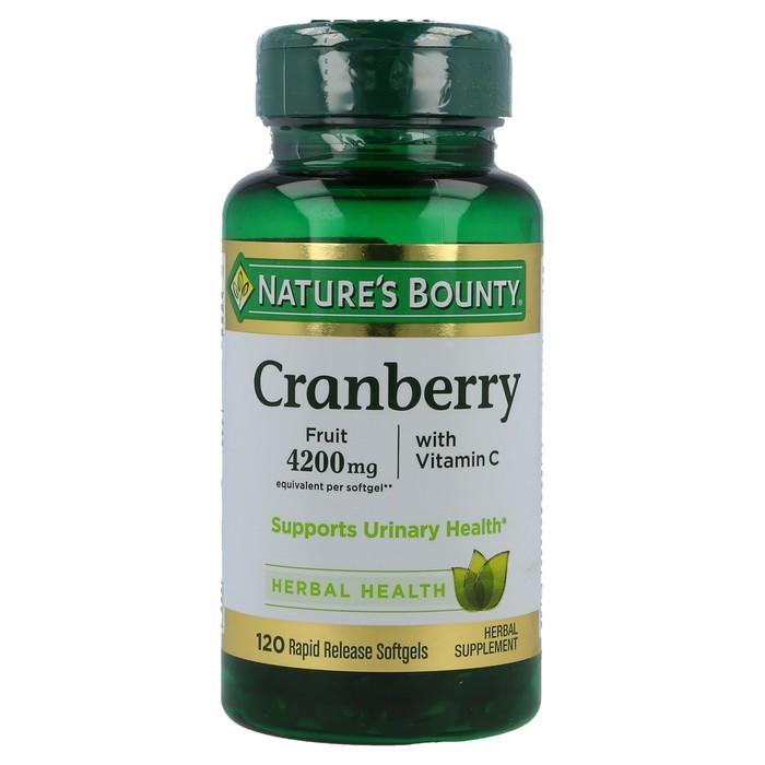 Nature's Bounty Cranberry 4200 mg Softgels, 120 Softgels