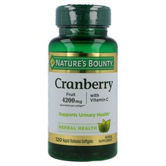 Nature's Bounty Cranberry 4200 mg Softgels, 120 Softgels