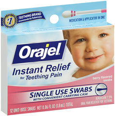 Baby Orajel Teething Swabs - 12 Unit Dose Swabs