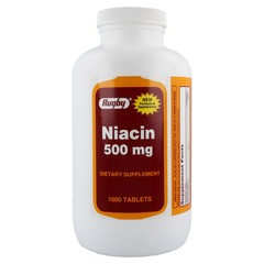 Niacin 500 mg Dietary Supplement 1000 Tablets
