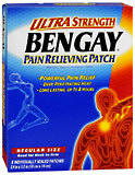 BENGAY Ultra Strength Pain Relieving Patches Regular Size  -  5 EA