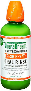 TheraBreath Fresh Breath Oral Rinse Mild Mint - 16 OZ