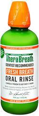 TheraBreath Fresh Breath Oral Rinse Mild Mint - 16 OZ