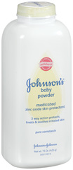 Johnson's Baby Medicated Cornstarch Powder 15oz