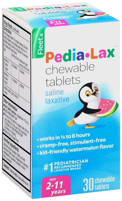 Fleet Pedia-Lax Chewable Tablets Watermelon Flavor - 30 Tablets