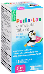 Fleet Pedia-Lax Chewable Tablets Watermelon Flavor - 30 Tablets