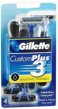 Gillette Custom Plus 3 - 4 Disposable Razors
