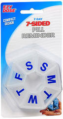 Ezy-Dose 7-Day Pill Reminder 7-Sided - 1 EA