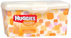 HUGGIES Soft Skin Baby Wipes Shea Butter Tub - 64 EA