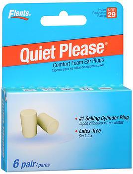 Flents Quiet! Please Ear Plugs - 6 Pair
