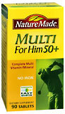 Nature Made Essential Tablets Man 50+ - 90 Tablets