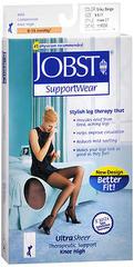 JOBST SupportWear Knee High Stockings 8-15 mmHg Ultra Sheer Silky Beige Large  -  1 PR