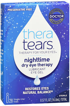 THERATEARS NIGHTTIME DRY EYE THERAPY LUBRICANT EYE GEL - 28 SINGLE-USE VIALS (.57 FL OZ TOTAL)