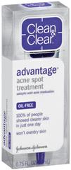 Clean & Clear Advantage Acne Spot Treatment  -  0.75oz