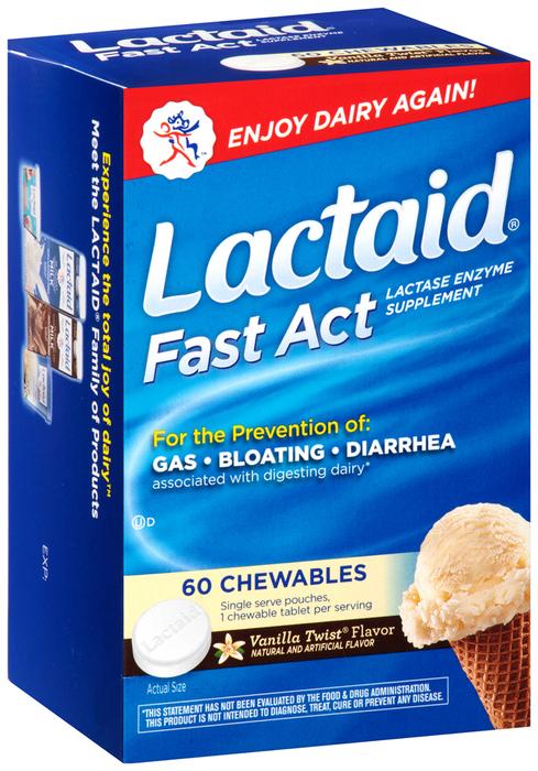 LACTAID Fast Act Chewables Vanilla Twist - 60 TB