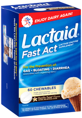 LACTAID Fast Act Chewables Vanilla Twist - 60 TB