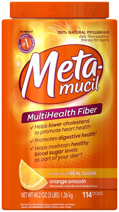 Metamucil Smooth Texture Orange 114 Doses