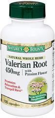 Nature's Bounty Valerian Root 450 mg Capsules - 100 Caps