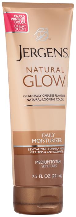 Jergens Moisturizer Natural Glow Medium/Tan Skin - 7.5 OZ