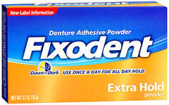 Fixodent Denture Adhesive Powder Extra Hold - 2.7 Ounces