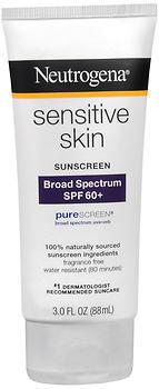 Neutrogena Sensitive Skin Sunblock Lotion SPF 60+ - 3 OZ