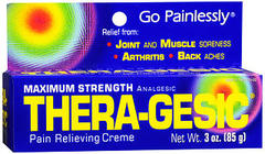 Thera-Gesic Pain Relieving Cream, Maximum Strength Analgesic  - 3oz