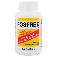 Fosfree Dietary Supplement with Calcium, Vitamins & Iron, Tablets  - 120ea