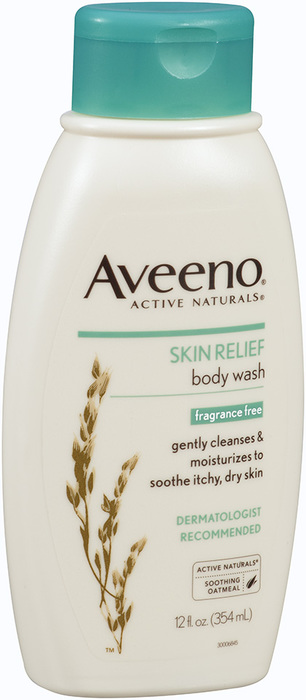 Aveeno Skin Relief Body Wash with Natural Colloidal Oatmeal, Fragrance Free  - 12oz