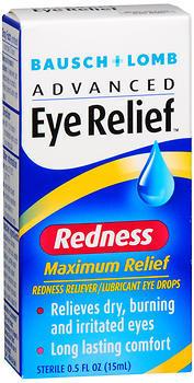 Bausch & Lomb Lubricant Eye Drops/Redness Reliever, Moisturizing  - 0.5oz