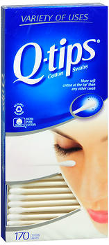 Q-Tip Cotton Swabs Flexible - 170 Each