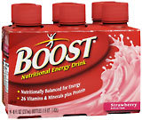 Boost Nutritional Energy Drink, Strawberry  - 6ea