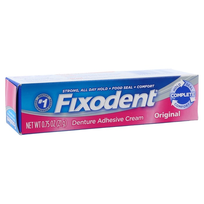how to get fixodent off