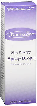 DermaZinc Spray/Drops  -  4 OZ