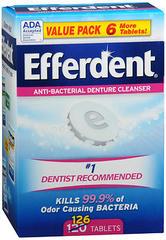 Efferdent Denture Cleanser Tablets Anti-Bacterial - 120 Each