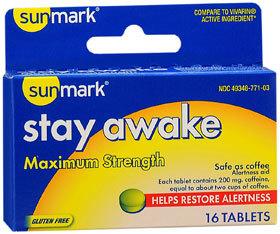 Sunmark Stay Awake Tablets - 200 mg - 16 Each