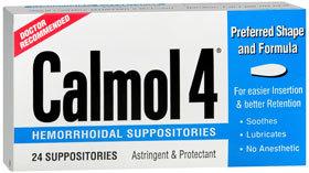 Calmol 4 Hemorrhoidal Suppositories - 24 Each