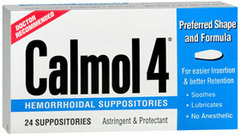 Calmol 4 Hemorrhoidal Suppositories - 24 Each