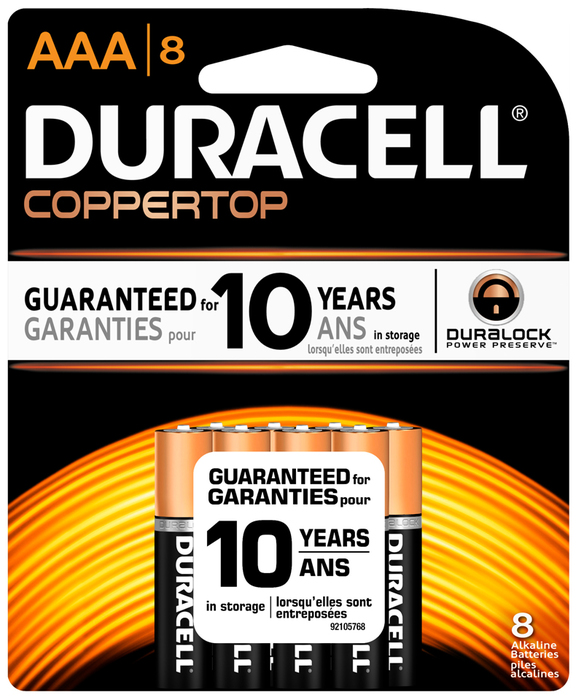 Duracell 1.5 Volt Battery AAA 8-Pack - 8 EA