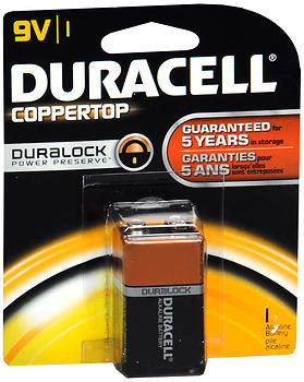 Duracell Coppertop 9V Alkaline Battery - 1 Each