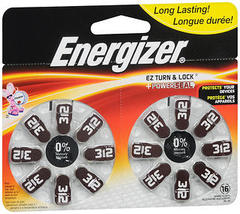 Energizer Size 312 - 16 Batteries