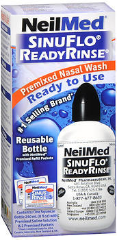 NeilMed SinuFlo ReadyRinse Premixed Nasal Wash - 8 Ounces - 1 Each
