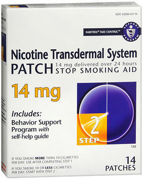 Novartis Nicotine Transdermal System Patch 14 mg Step 2 - 14 EA