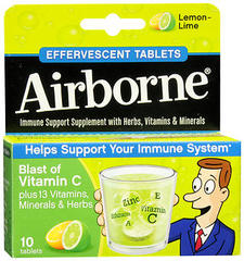Airborne Effervescent Tablets Lemon-Lime - 10 Each